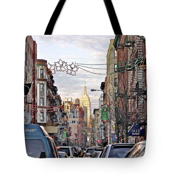 Festive Nyc Tote Bag