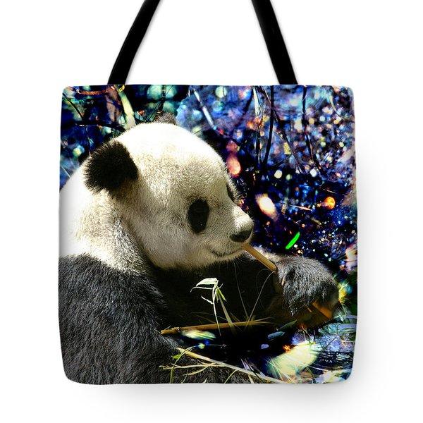 Festive Panda Tote Bag