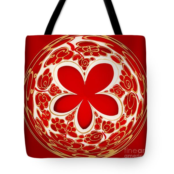 Festive Star Bauble Orb Tote Bag by Anne Gilbert