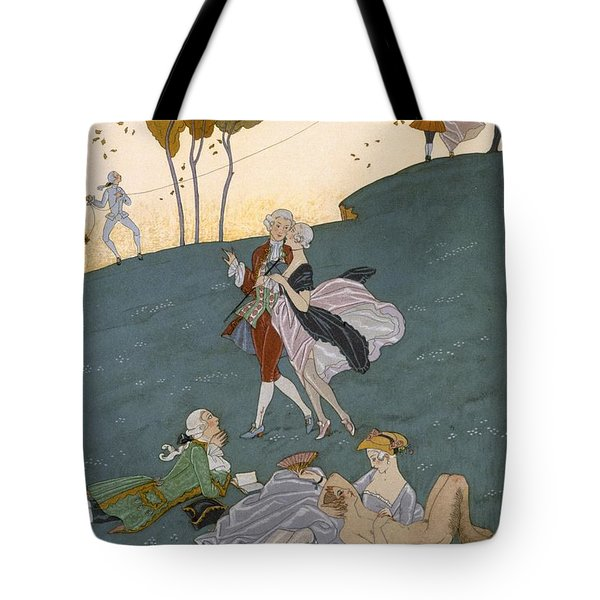 Fetes Galantes Tote Bag by Georges Barbier
