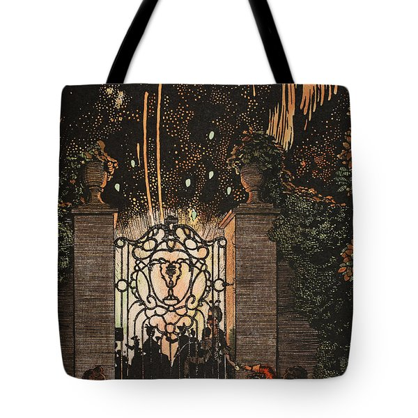 Feu D Artifice Tote Bag by Konstantin Andreevic Somov