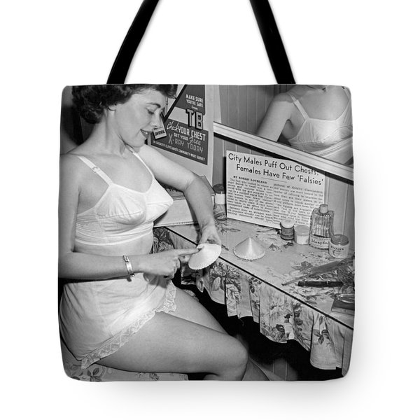 Fewer Falsies For Cleveland Tote Bag