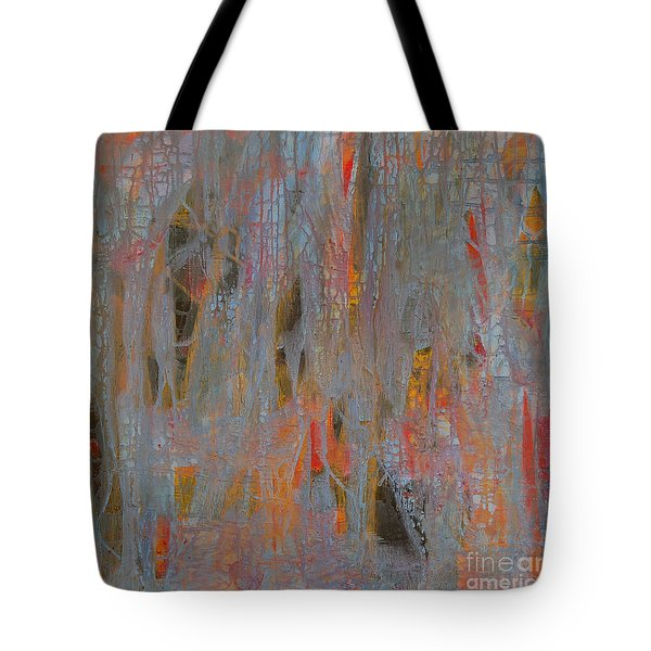 Tote Bag featuring the painting Fibres Of My Being by Mini Arora