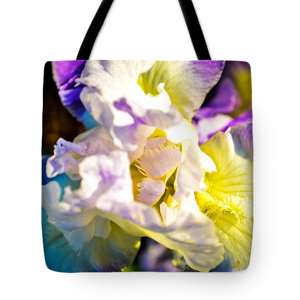Fickle Iris  Tote Bag by Mary Ward