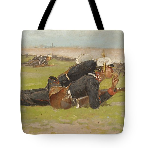 Field Drill For The Prussian Infantry  Tote Bag