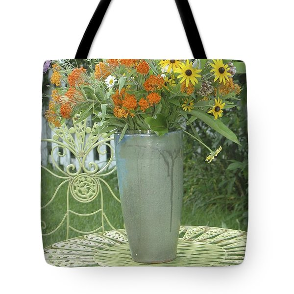 Field Flowers At The Mill Tote Bag