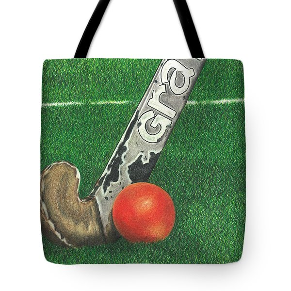 Field Hockey Tote Bag by Troy Levesque