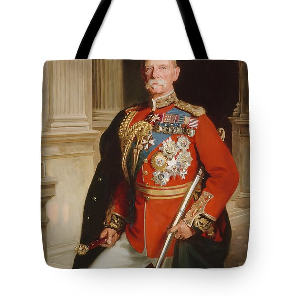 Field Marshal Lord Roberts Of Kandahar Tote Bag by Frank Markham Skipworth