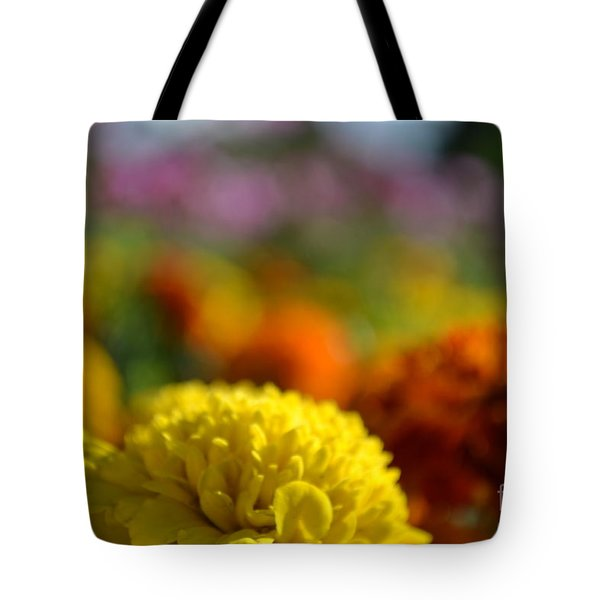 Tote Bag featuring the photograph Field Of Carnations by Scott Lyons