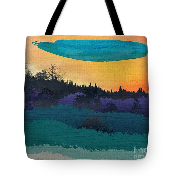 Field Of Colors And Shades Tote Bag by Bedros Awak