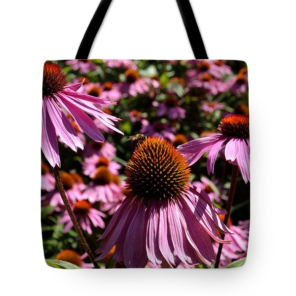 Tote Bag featuring the photograph Field Of Echinaceas by Scott Lyons