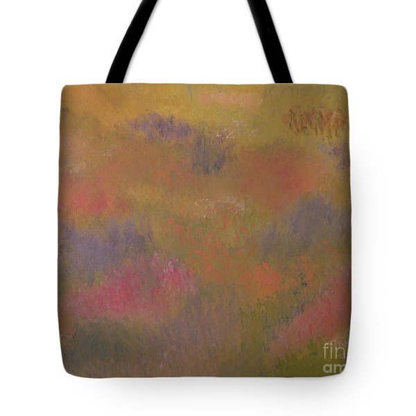 Field Of Flowers Abstract Tote Bag