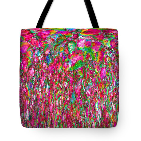 Field Of Flowers At Sunset Tote Bag