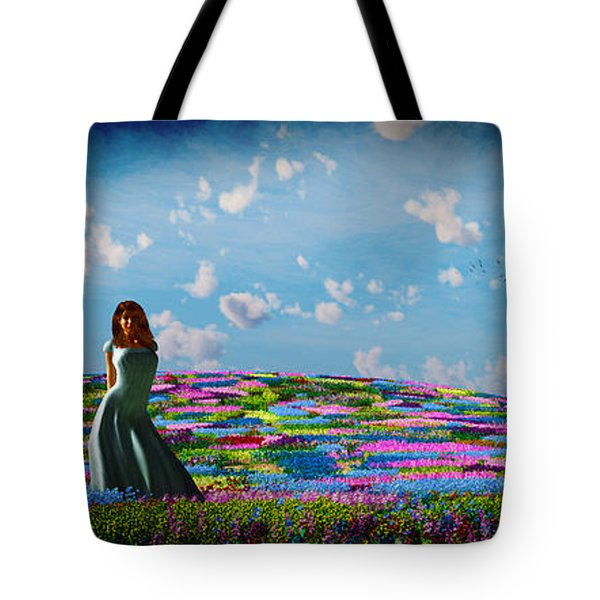 Field Of Flowers... Tote Bag by Tim Fillingim
