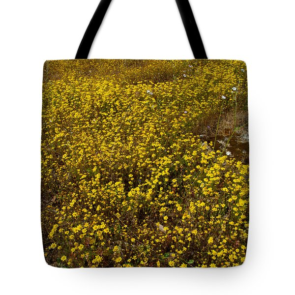 Field Of Goldfields In Park Sierra-ca Tote Bag by Ruth Hager