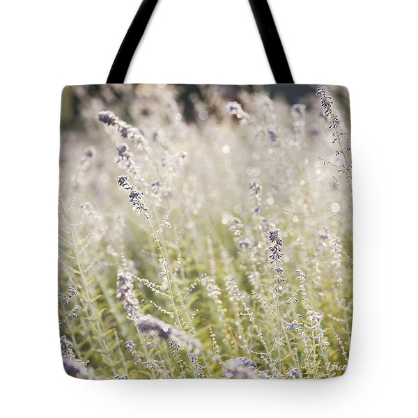 Field Of Lavender At Clos Lachance Vineyard In Morgan Hill Ca Tote Bag by Artist and Photographer Laura Wrede
