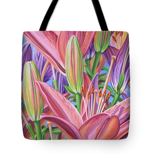 Field Of Lilies Tote Bag