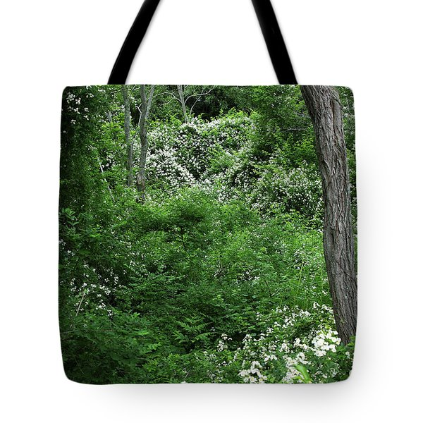 Field Of Love A Heart And Flowers Tote Bag by Michelle Wiarda