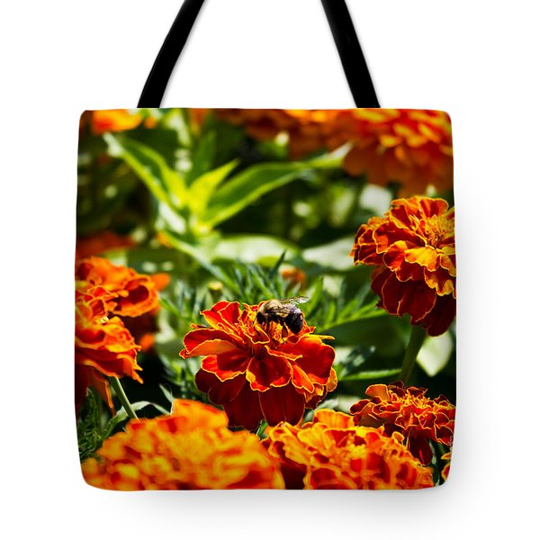 Field Of Marigolds Tote Bag