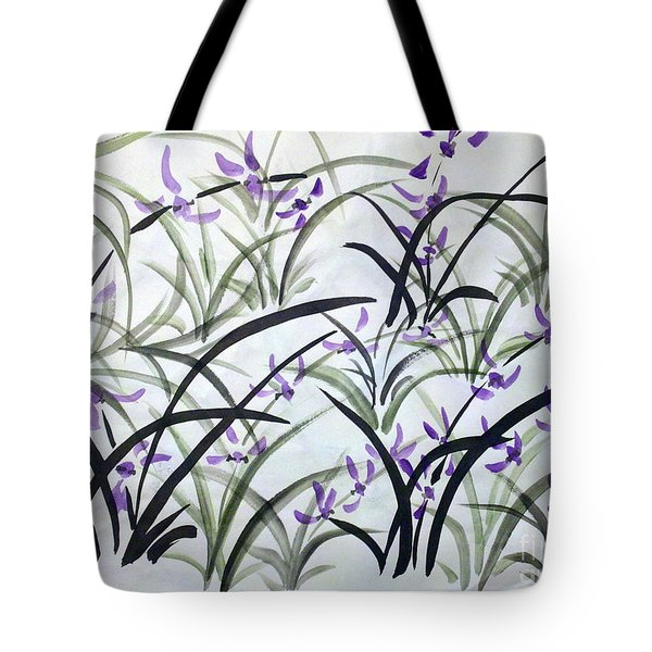 Field Of Orchids Tote Bag
