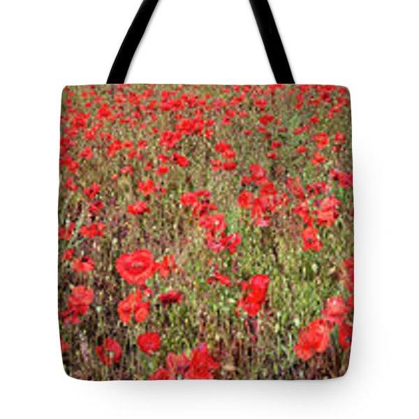 Field Of Poppies In Bloom Tote Bag