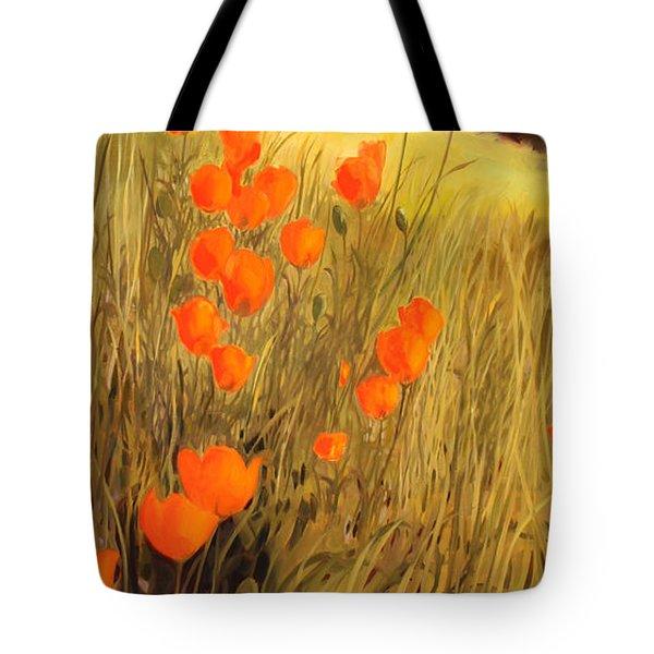 Field Of Poppies Tote Bag by Sue  Darius