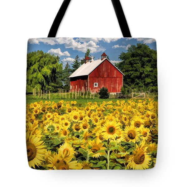 Field Of Sunflowers Tote Bag by Christopher Arndt