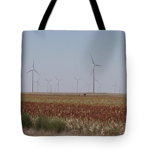 Tote Bag featuring the photograph Field Of Wind by Fortunate Findings Shirley Dickerson