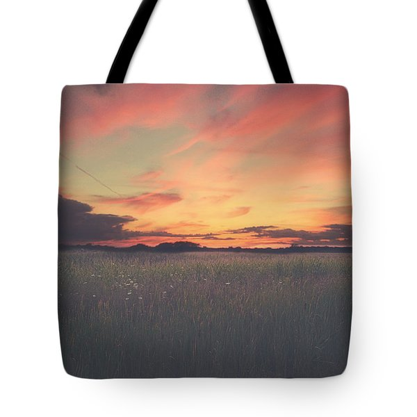 Field On Fire Tote Bag