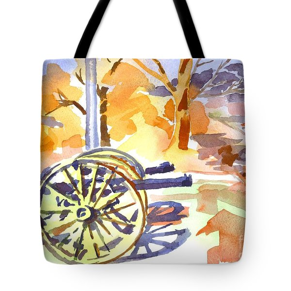 Field Rifles In Watercolor Tote Bag by Kip DeVore