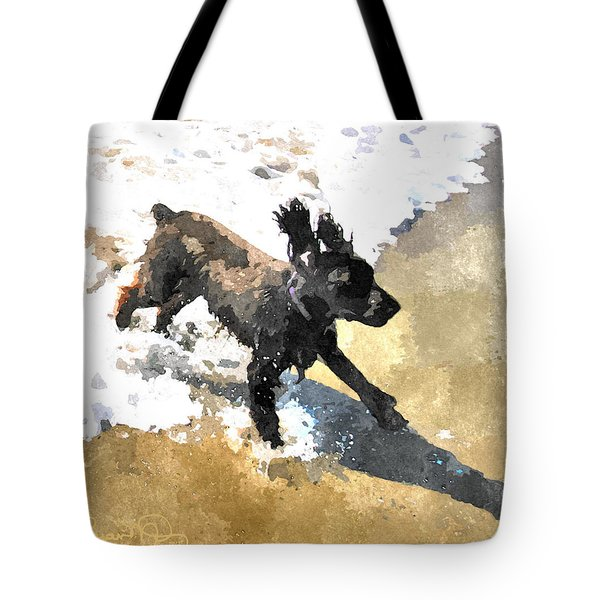 Field Spaniel Joy Tote Bag by Susan Molnar
