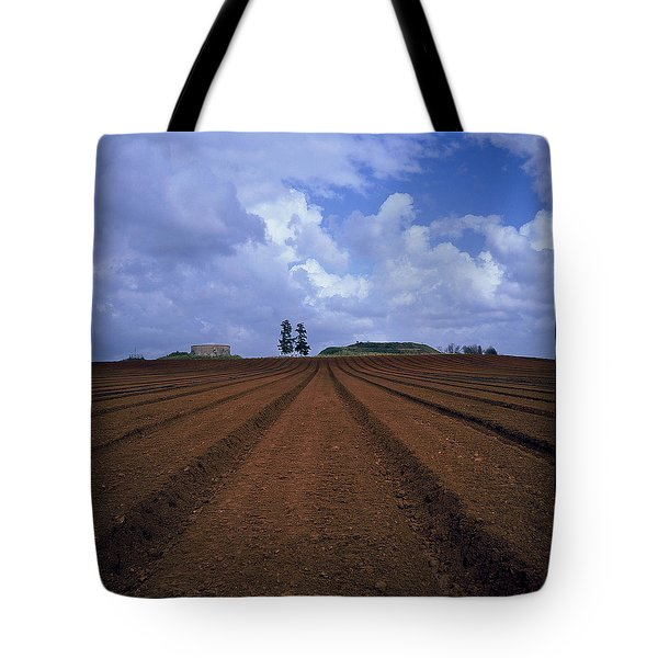 Fields Of Hod Hasharon Tote Bag by Dubi Roman