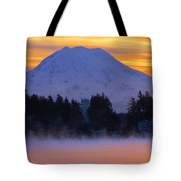 Fiery Dawn Tote Bag