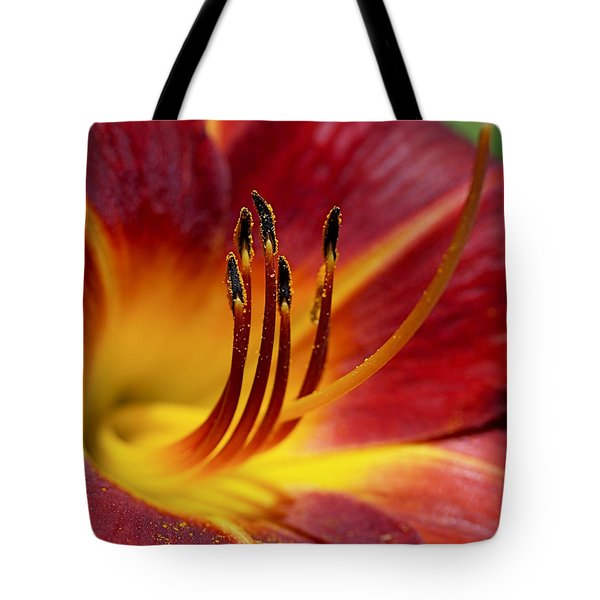 Fiery Lily Tote Bag by Rona Black