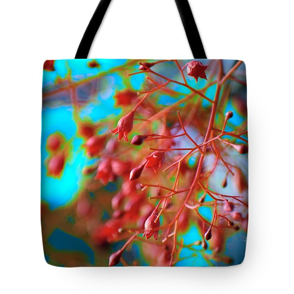 Fiery Red Clusters - Illawarra Flame Tree Tote Bag