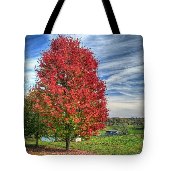Fiery Red Maple Tote Bag