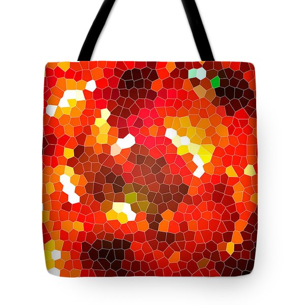 Fiery Red Stained Glass Tote Bag by Gaspar Avila