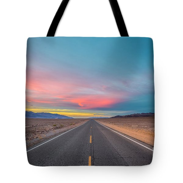 Fiery Road Though The Valley Of Death Tote Bag