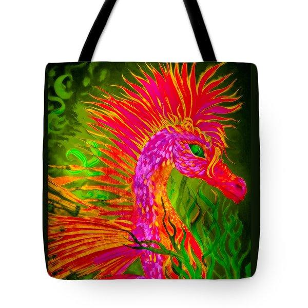 Fiery Sea Horse Tote Bag by Adria Trail