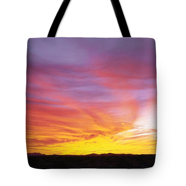 Fiery Sky Over Sonoran Desert Tote Bag