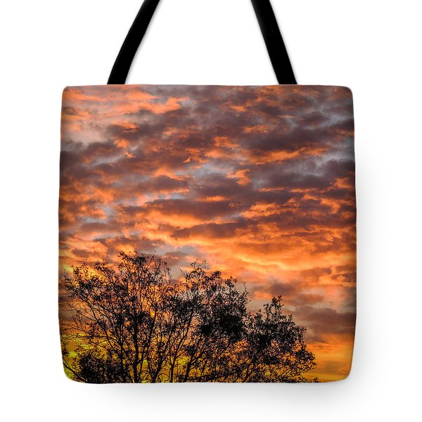 Fiery Sunrise Over County Clare Tote Bag