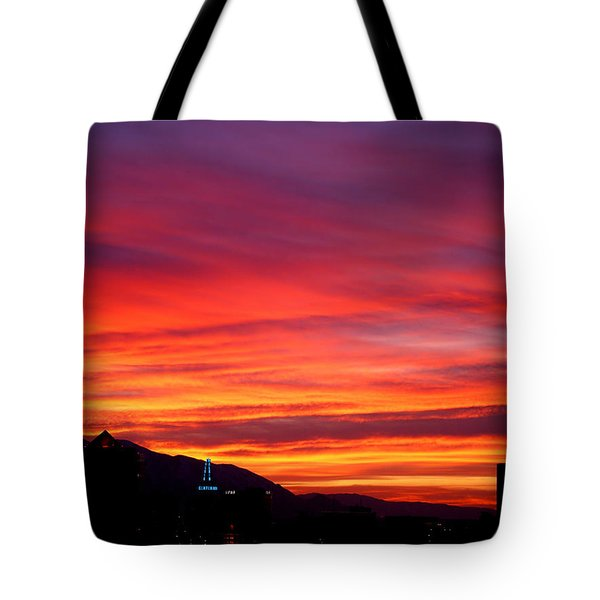 Fiery Sunset Tote Bag by Rona Black