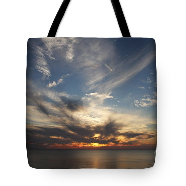 Tote Bag featuring the photograph Fiery Sunset Skys by Christiane Schulze Art And Photography