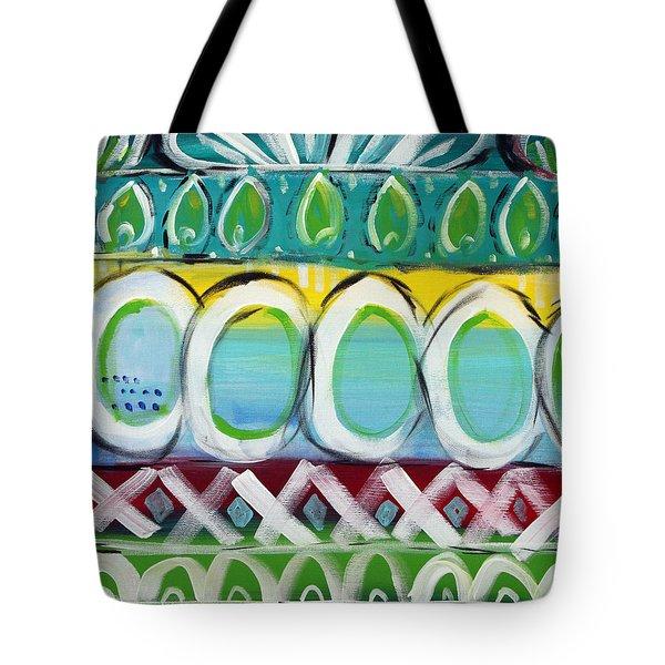 Fiesta - Colorful Painting Tote Bag by Linda Woods