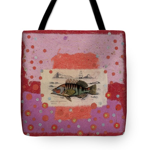 Fiesta Fish Collage Tote Bag