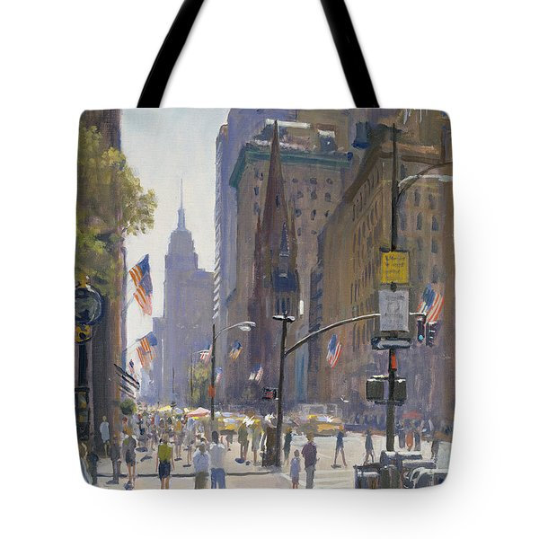 Fifth Avenue, 1997 Oil On Canvas Tote Bag