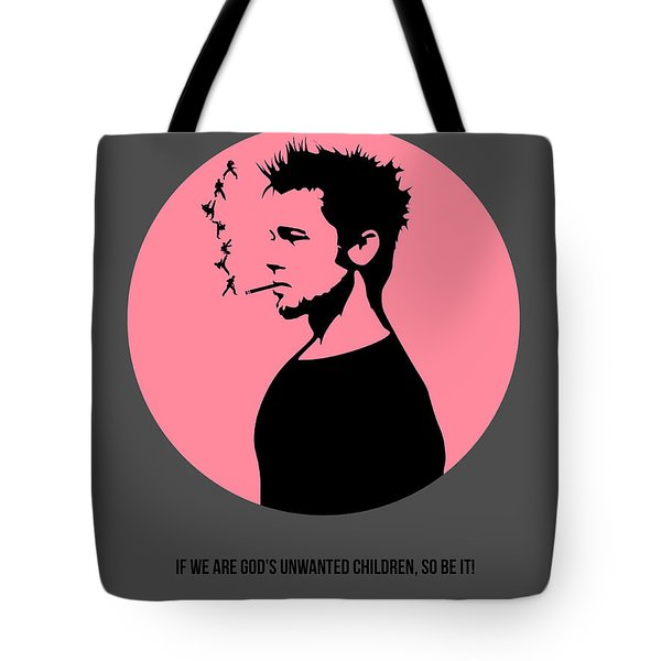 Fight Club Poster 1 Tote Bag by Naxart Studio