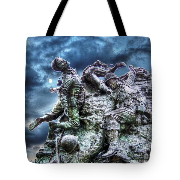 Fight On Tote Bag by Dan Stone