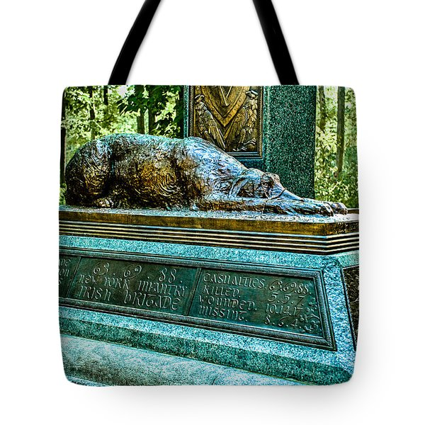 Fighting 69th Irish Brigade Gettysburg Battleground Tote Bag
