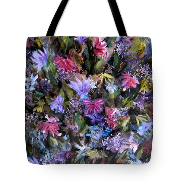 Fighting For Space Lll Flowerpatch Series Tote Bag